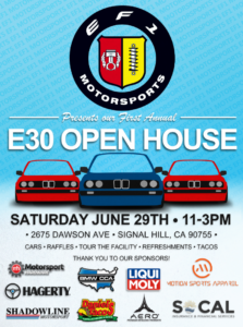 BMWCCA E30 Open House